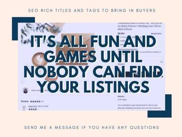 I will rework your etsy listings titles and tags