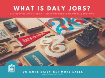 Etsy Service: I will send you list of daily jobs what you need to do for sail b
