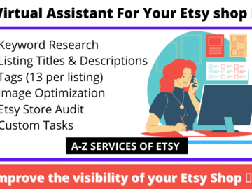 ⭐️Friendly Virtual Assistant For Your Etsy shop